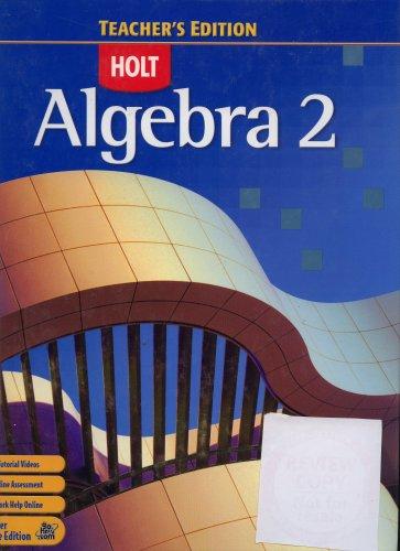 9780030385315: Algebra 2 Teacher's Edition [Hardcover]