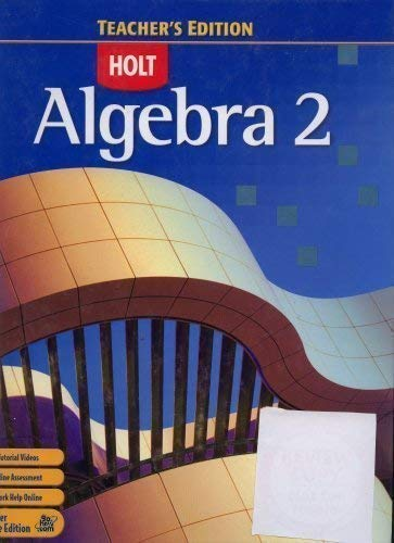 9780030385315: Algebra 2 Teacher's Edition [Hardcover]