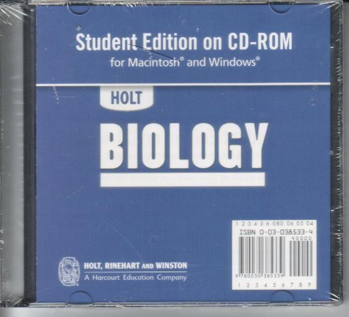 9780030385339: Holt Biology: Student Edition CD-ROM for Macintosh and Windows 2006