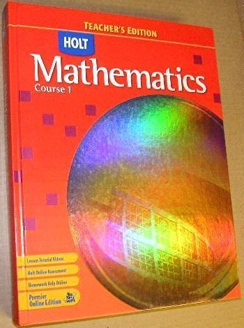 9780030385438: Holt Mathematics Course 1 - Teacher's Edition 2007