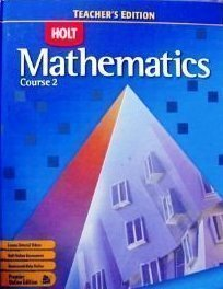 9780030385445: Holt Mathematics: Course 2, Teacher's Edition