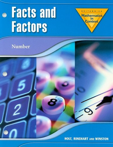 9780030385643: Holt Math in Context: Facts And Factors Grade 7