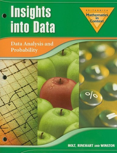 9780030385711: Holt Math in Context: Insights Into Data Grade 8