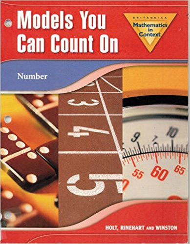 9780030385780: Holt Math in Context: Models You Can Count On Grade 6