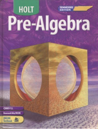 9780030386824: Holt Pre-Algebra Tennessee: Edition ìStudent Edition+ 2005