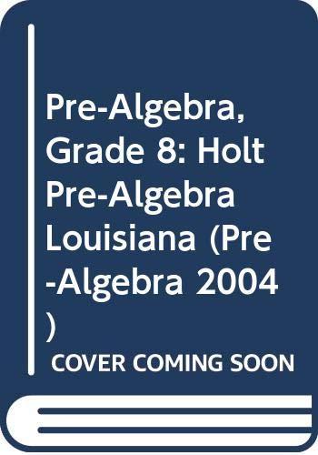 9780030386848: Holt Pre-Algebra Louisiana: Edition ?Student Edition+ 2004