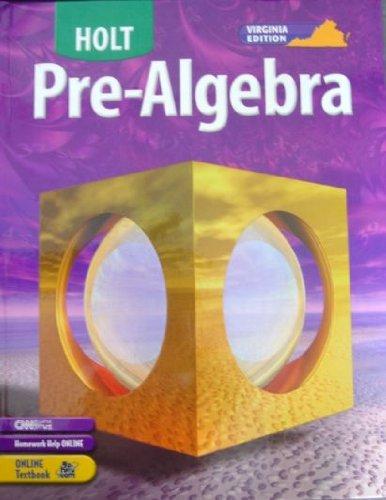 9780030386879: Holt Pre-Algebra Virginia: Edition ?Student Edition+ 2005
