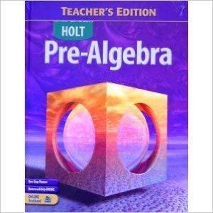 9780030386886: Pre-Algebra (Holt Pre-Algebra)