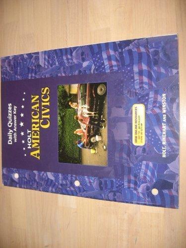 9780030387173: Daily Quizzes W/Ansky Am Civics 2005