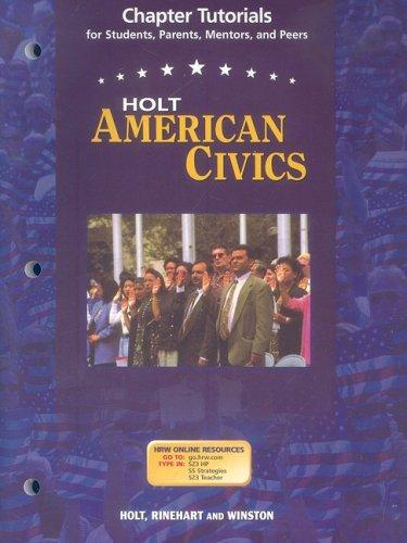 9780030387197: Holt American Civics: Chapter Tutorials for Students Grades 9-12