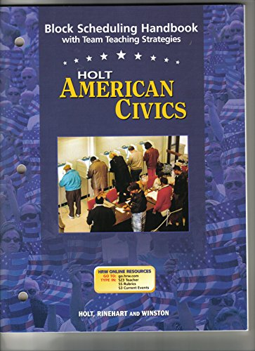 9780030387227: Block Sched Hndbk Am Civics 2005