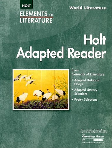 9780030387463: Elements of Literature: The Holt Adapted Reader World Literature