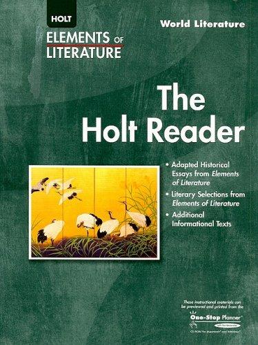 9780030387562: Elements of Literature: The Holt Reader World Literature