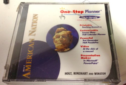 9780030388095: One Stop Planner with Test Generator (American Nation)
