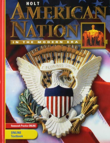 9780030388217: Holt American Nation: Student Edition Grades 9-12 in the Modern Era 2005