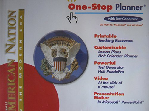 9780030388262: Holt American Nation: In the Modern Era: One-Stop Planner CD-ROM with Test Generator
