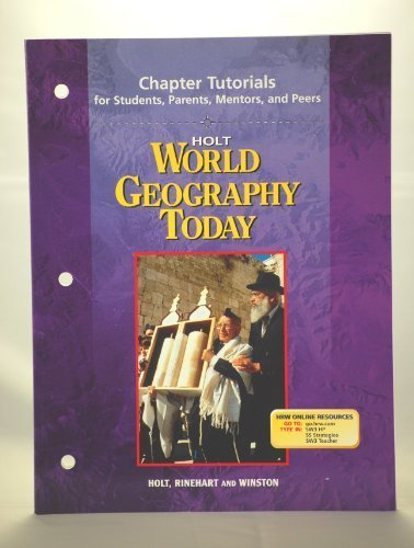 9780030388668: Chapter Tutorials for Students, Parents, Mentors and Peers Holt World Geography Today