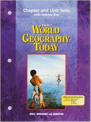 9780030388675: Chapter and Unit Tests with Answer Key Holt world Geography Today