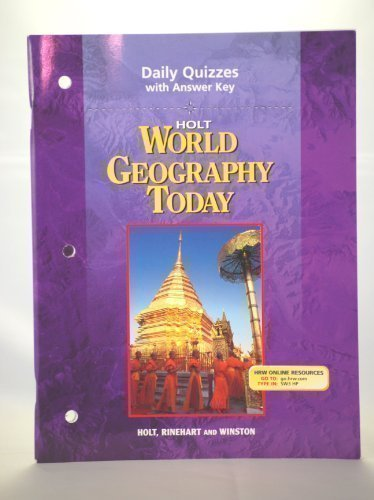 9780030388682: Holt World Geography Today: Daily Quizzes with Answer Key