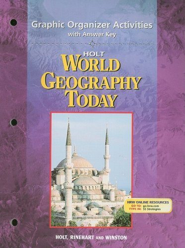9780030388729: Holt World Geography Today: Graphic Organizer Activities with Answer Key