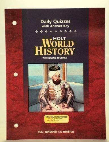 9780030388835: Holt World History: Human Journey: Daily Quizzes with Answer Key