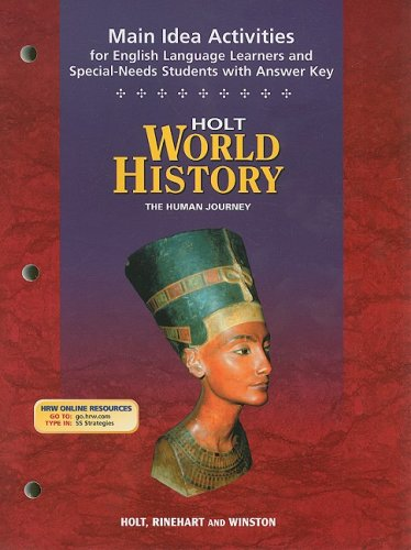 9780030388842: Holt World History Main Idea Activities for English Language Learners and Special-Needs Students with Answer Key: The Human Journey