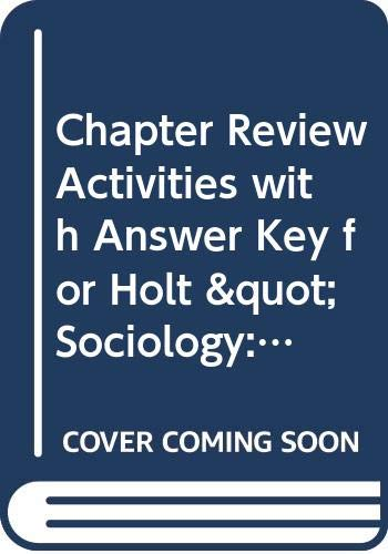 9780030388897: Chapter Review Activities with Answer Key for Holt