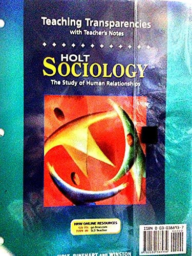 9780030388934: Tchg Ohts W/Tch Notes Sociology 2005