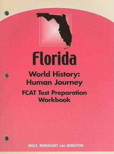 9780030389375: Holt World History: Human Journey Florida: Test Prep Workbook Grades 9-12