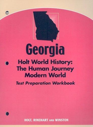 9780030389474: Holt World History: Human Journey: Test Preparation Workbook Grades 9-12 Modern World