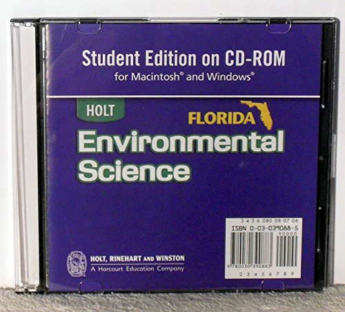 9780030390883: Holt Environmental Science: Student Edition CD-ROM for Macintosh and Windows 2006