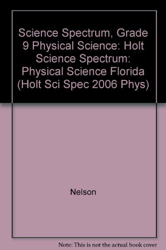 9780030390982: Holt Science Spectrum: Physical Science Florida: ìStudent Edition+ 2006