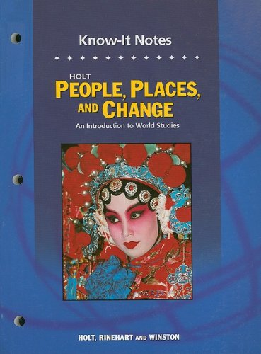 9780030391828: Holt People, Places, and Change: An Introduction to World Studies: Chapter Resources: Know-It Notes