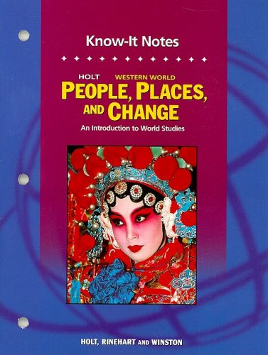9780030391897: Holt People, Places, and Change: An Introduction to World Studies: KNOW-IT NOTES Grades 6-8 Western World