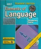 9780030392023: Elements of Language Teacher's Edition (INTRODUCTORY COURSE)