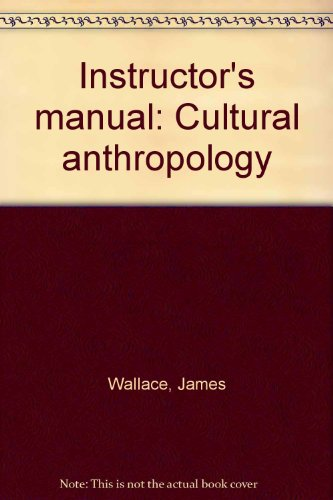 9780030392061: Instructor's manual: Cultural anthropology