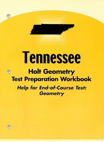 9780030392184: Holt Geometry Tennessee: Test Prep Workbook Geometry