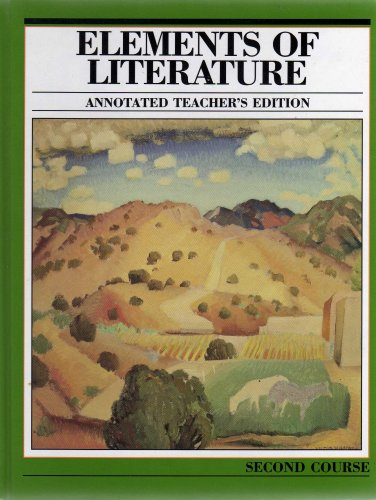 9780030392597: Holt Elements of Literature Second Course Annotated Teacher's Edition