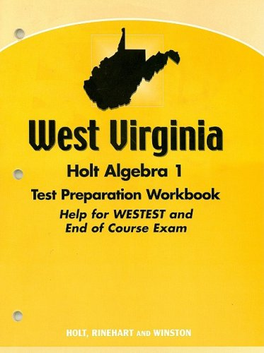 9780030392993: Holt Algebra 1 West Virginia: Test Prep Workbook Algebra 1