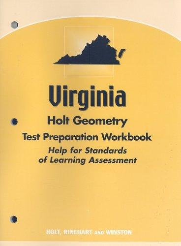 9780030393587: Holt Geometry Virginia: Test Prep Workbook Geometry