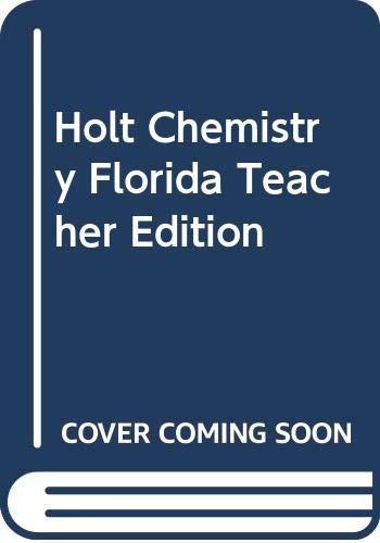 9780030393594: Holt Chemistry Florida Teacher Edition