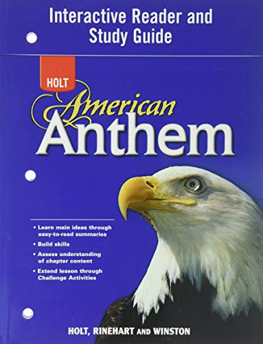9780030393938: Interactive Reader and Study Guide (Holt American Anthem)