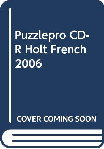 9780030393983: Puzzlepro CD-R Holt French 2006