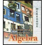 Elementary and Intermediate Algebra: A Combined Course (with Digital Video Companion) (003039502X) by Charles P. McKeague