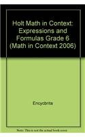 9780030396175: Holt Math in Context: Expressions And Formulas Grade 6