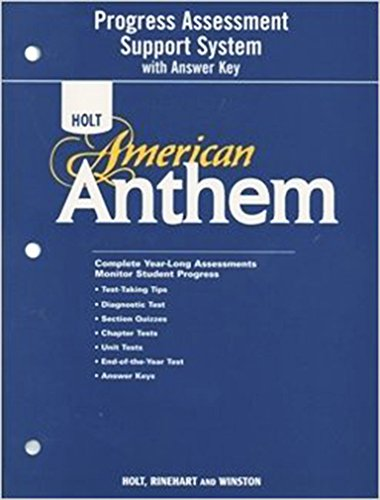 9780030396236: American Anthem: Program Assessment Support System with Answer Key