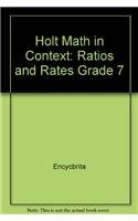 9780030396298: Holt Math in Context: Ratios And Rates Grade 7