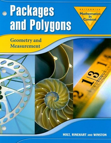 9780030396328: Holt Math in Context: Packages And Polygons Grade 7