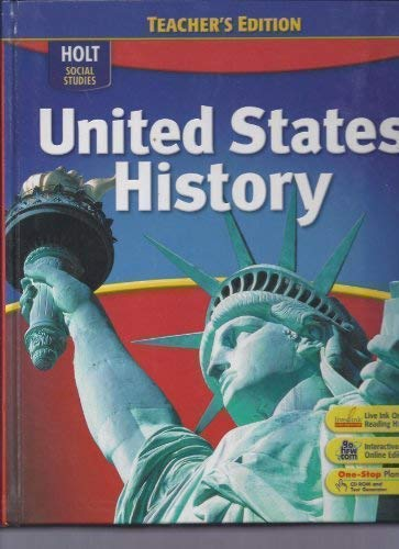 9780030396335: United States History, Teacher's Edition