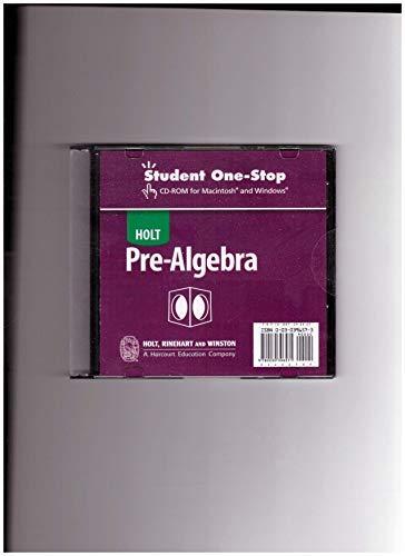 9780030396571: Holt Pre-Algebra: One-Stop CD 2004